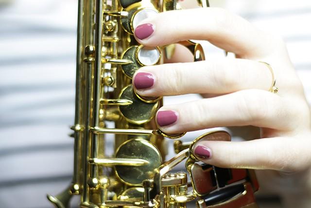 Essie Angora Cardi - sax and the pretty